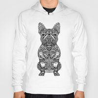 frenchie Hoodies featuring Mandala Frenchie by Huebucket