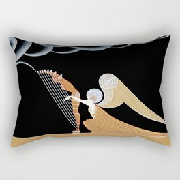 "Art Deco Design ""The Angel"" Rectangular Pillow"