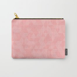 Pastel Millennial Pink Geometric Pattern Carry-All Pouch