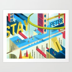 STAY PETER Town Art Print
