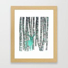 Turquoise Stag Framed Art Print