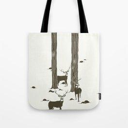 bucks in the snow Tote Bag