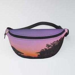 Purple orange sunset Fanny Pack
