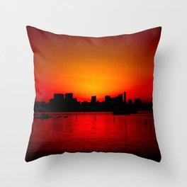 Tokyo Skyline Sunset Throw Pillow