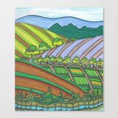 Colored Hills Canvas Print