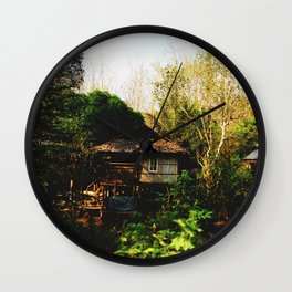Little Houses in the Wood Wall Clock