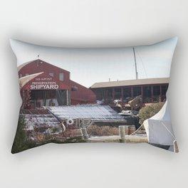 Red Barn ShipYard Rectangular Pillow