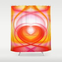 cocaine Shower Curtains featuring Twirl in Love by Heidi Anne Morris