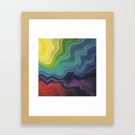 Retro Waves Framed Art Print