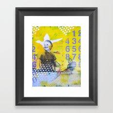 Numero Framed Art Print