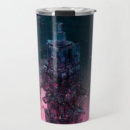 The Technocore / 3D render of futuristic structure Travel Mug