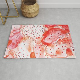 Abstract pattern of watercolor red fruit Edit.No.83 Rug
