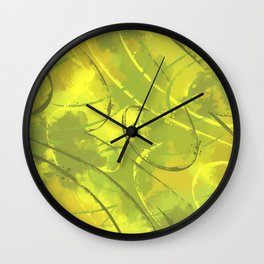 Citric abstract Wall Clock