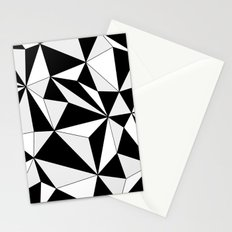 Geo - gray, black and white. Stationery Cards