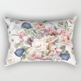 Spring mood illustration with roses Rectangular Pillow