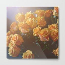 Bright Orange Roses Metal Print