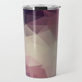 Polygon pattern . Triangles with a texture craquelure . Travel Mug