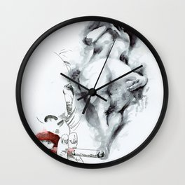 NUDEGRAFIA - 55 smoke Wall Clock