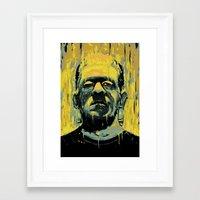 frankenstein Framed Art Prints featuring Frankenstein by nicebleed
