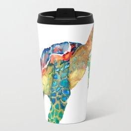 watercolour rainbow sea turtle Travel Mug