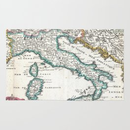 Vintage Map of Italy (1706) Rug