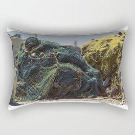 A cat and a fishing net Rectangular Pillow