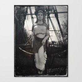 Lady Columbia by Topher Adam 2017 Canvas Print