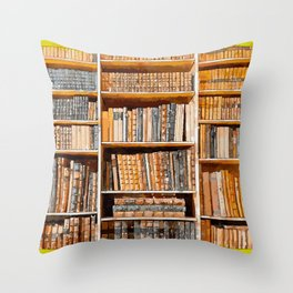 books background in watecolor style Throw Pillow