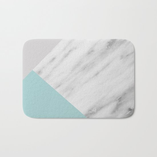 Ice Color Marble Collage Bath Mat