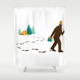 A Hairy Camp Robber Shower Curtain