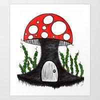 Mushroom Island Art Print