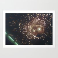 disco Art Prints featuring disco by oanauciuf
