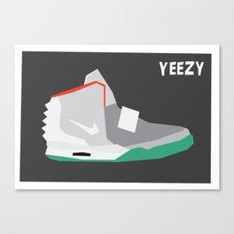 Minimalist Sneaker Print Canvas Print