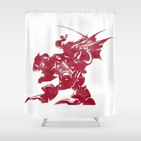 final fantasy Shower Curtains featuring FINAL FANTASY VI by DrakenStuff+