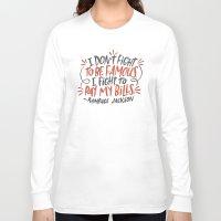 percy jackson Long Sleeve T-shirts featuring Rampage Jackson by Josh LaFayette
