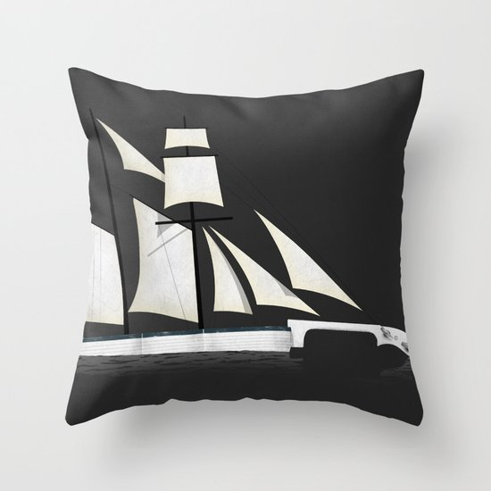 Musical Voyage Throw Pillow