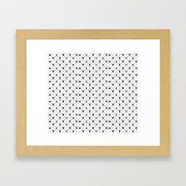KH Pattern Framed Art Print