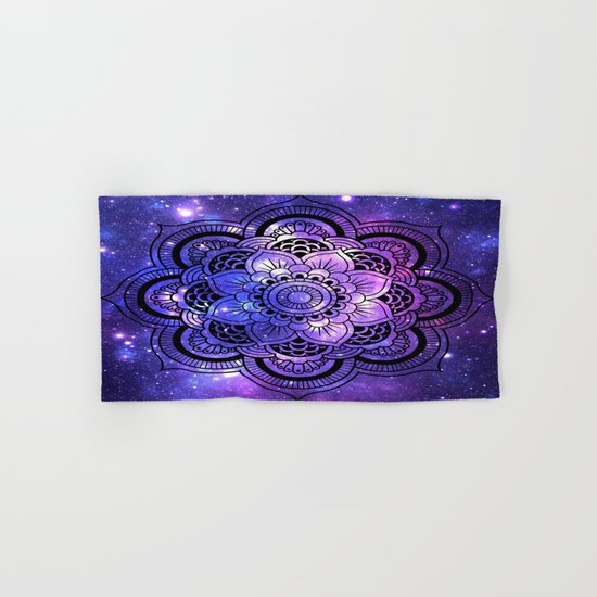 Mandala : Purple Blue Galaxy Hand & Bath Towel
