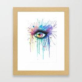 Rainbow Eye Colorsplash Framed Art Print