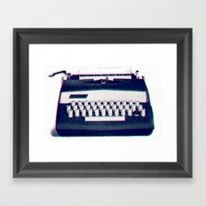 typing Framed Art Print