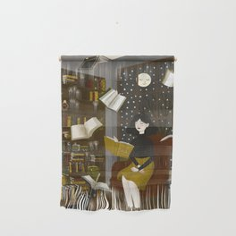 floating books Wall Hanging