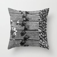 boardwalk empire Throw Pillows featuring Boardwalk by Elise Price