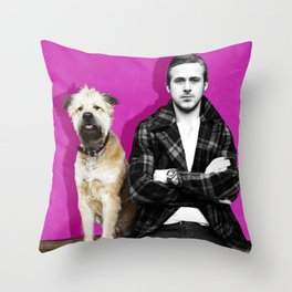 Ryan Gosling and friend Throw Pillow