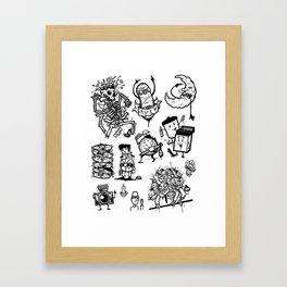 Random Drawings Framed Art Print