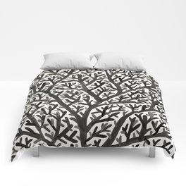 Black Fan Coral Comforters