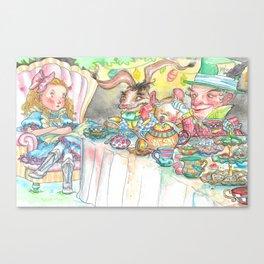 Alice's Mad Tea Party Canvas Print