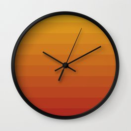 Gradient, Yellow Red Wall Clock