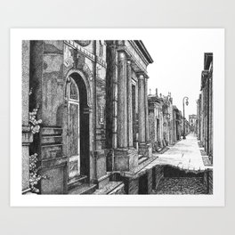 """Grave Streets """"VACANCY zine"""" Art Print"""