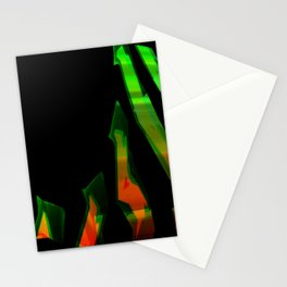 Abstract aesthetic neon Stationery Cards