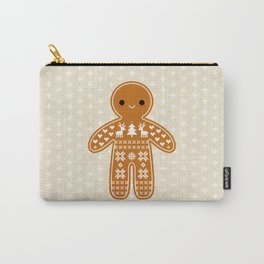 SWEATER PATTERN GINGERBREAD COOKIE Carry-All Pouch